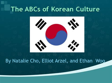 the abcs of korean culture