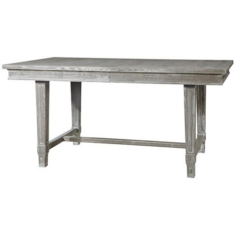 danson modern classic grey cerused oak extendable dining