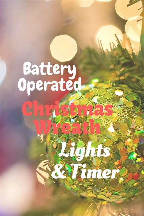 battery operated wreath lights with timer