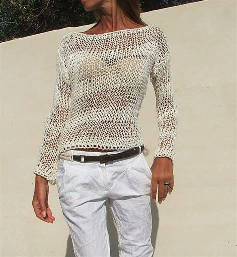 light sweaters for summer white sweater white cotton mix knit stripe sweater