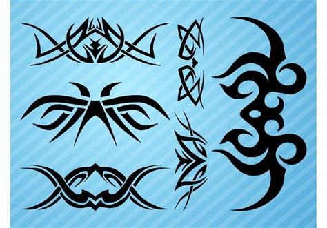 curved tribal tattoos curved tattoos free vector stock graphics