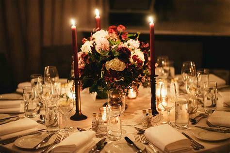 lea jeremys elegant candlelit burgundy wedding