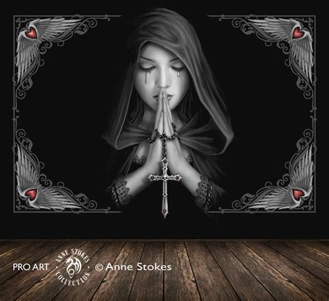 Childrens Room Wall Stickers anne stokes gothic prayer 0 gprasw001