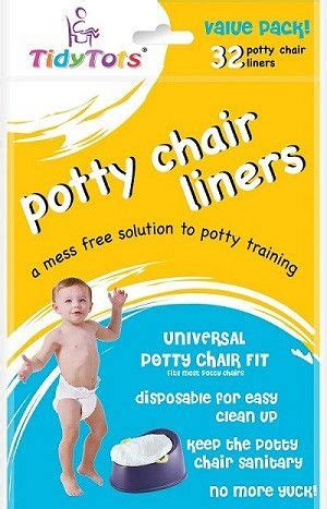 Tidytots disposable potty chair liners value pack 32 count