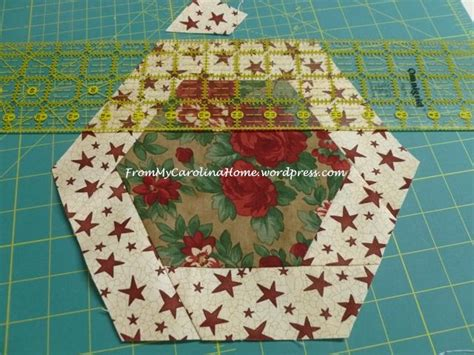 Christmas Hexagonal Table Topper From My Carolina Home Table Topper Template