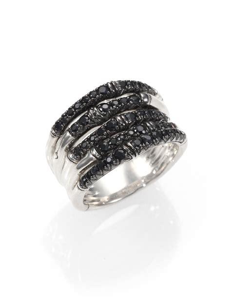 Black Sapphire 1 hardy bamboo black sapphire sterling silver multi