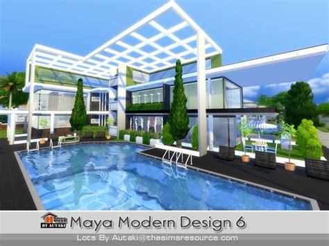 the sims 4 40x30 modern house floor plans modern design 6 house by autaki at tsr 187 sims 4 updates
