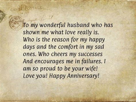 Wedding Anniversary Letter by Happy Anniversary Message For Husband