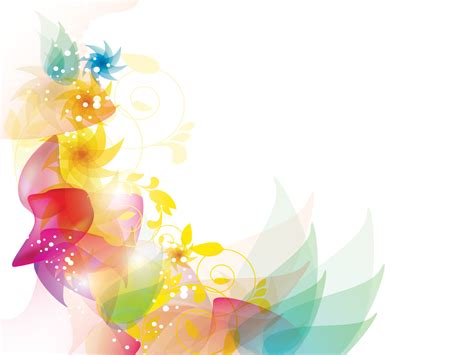 Colorful Floral Powerpoint Template Is A Great Abstract Colourful Powerpoint Backgrounds