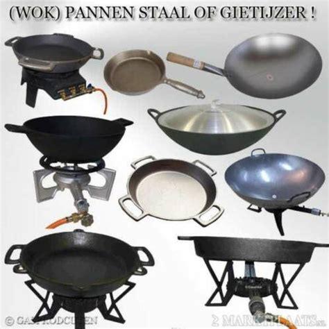 grote wokpannen gietijzer en plaatstaal pan wokpan professioneel
