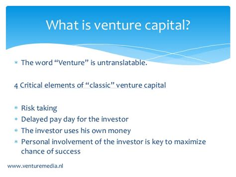 Mba For Venture Capital by Venture Capital Is Eigenlijk Weeg Kapitaal Henny Der