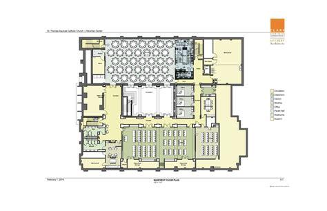 Gothic Church Floor Plan by Saint Thomas Aquinas Catholic Church Amp Newman Center
