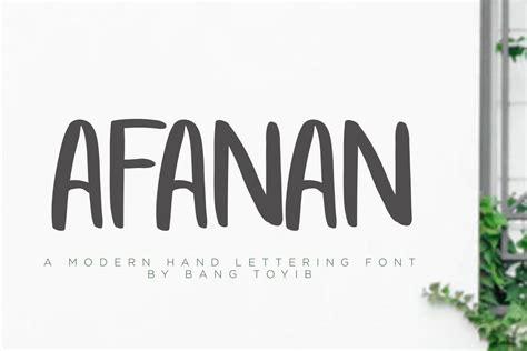Handcrafted Font - afanan handmade font by eldertype stu font bundles
