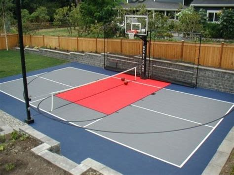 Backyard Ideas Sports Backyard Basketball Court Ideas To Help Your Family Become