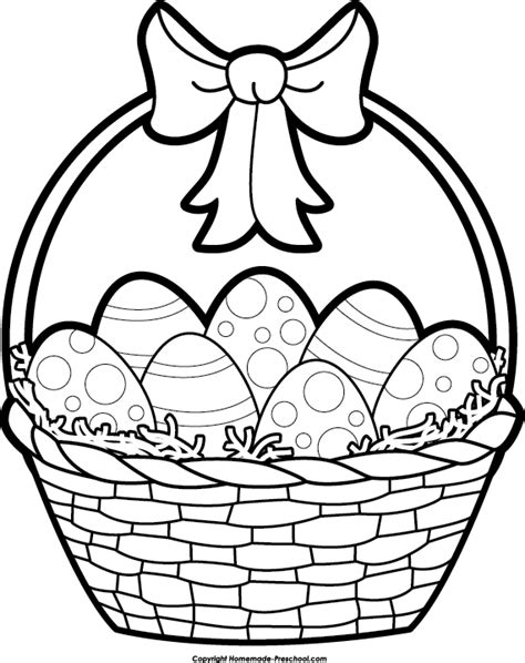coloring book gift basket easter basket clipart black and white happy easter