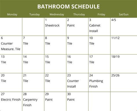 bathroom remodel schedule calendar crystal kitchen bath