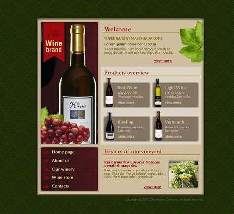 Wine Website Template 9693 Free Wine Website Templates