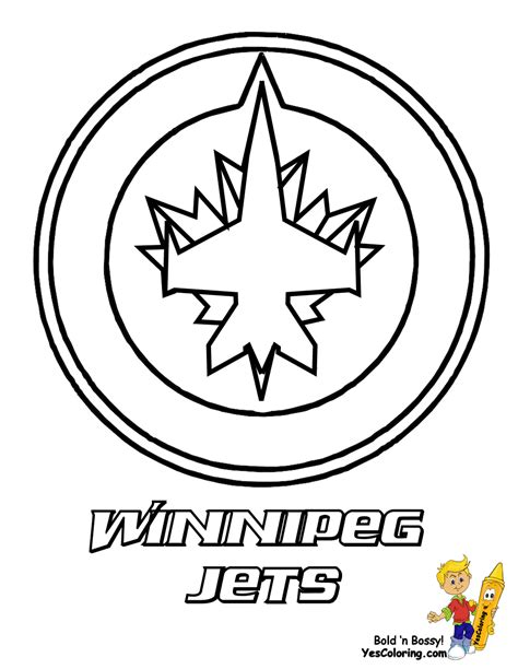 jets helmet coloring pages winnipeg jets hockey picture jackson hockey birthday