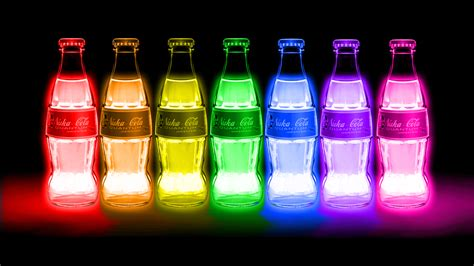 fallout drink nuclear radiation color glow neon wallpaper