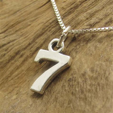lucky number 7 seven 925 silver pendant charm ebay