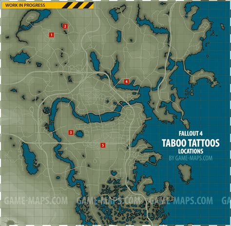 eagle tattoo location fallout 4 taboo tattoos magazines locations map fallout 4