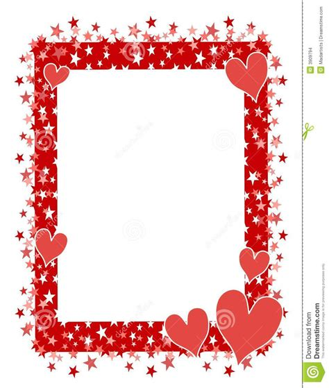 cornici colorate da stare gratis hearts frame or border 2 stock illustration
