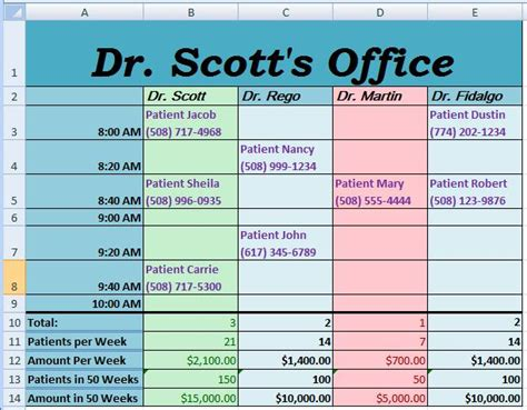 doctor schedule template week 10 homework microsoft excel doctor appointments