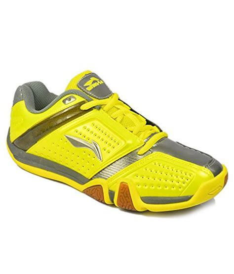 Lining Badminton Shoes I7 Wide li ning no 1 badminton gumsole shoes yellow grey price in india buy li ning no 1