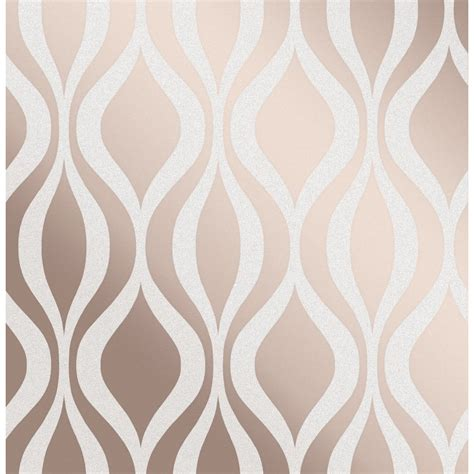monaco rose gold wave geometric glitter wallpaper fd