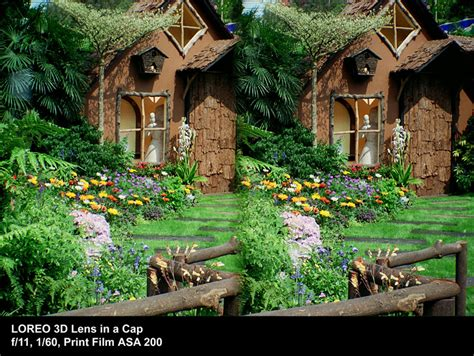 Mini House Design loreo sample photographs 3d lens in a cap house with