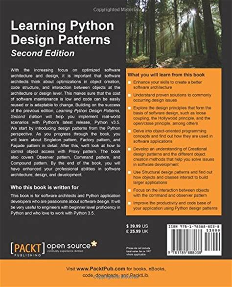 patterns english book pdf download learning python design patterns 2nd edition