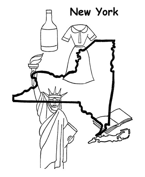 coloring pages new york new york state outline coloring page coloring pages us
