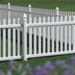 danbury vinyl picket fence straight avinylfence com