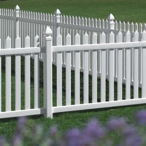 picket fences danbury vinyl picket fence straight avinylfence com