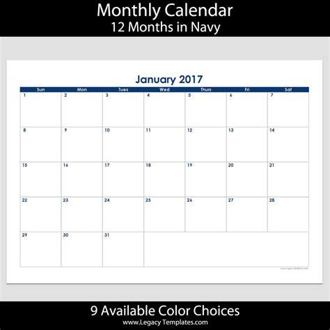 A4 Kalender 2017 2017 12 Month Landscape Calendar A4 Legacy Templates
