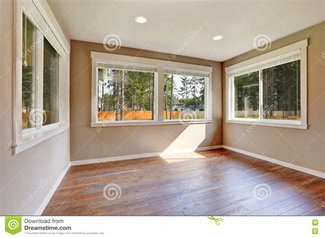 brand new house construction interior empty room stock