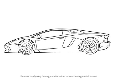 lamborghini car drawing how to draw lamborghini centenario side view