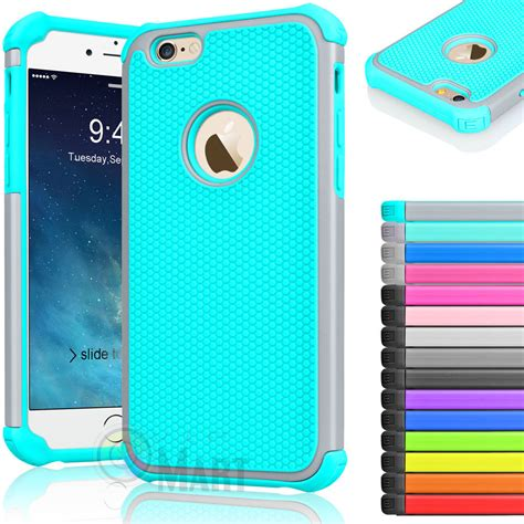 Rubber Hardcase Cover For Iphone 6s Iphone 6s rugged rubber shockproof cover for iphone 7 6 6s 4 7 quot 5 5 quot plus ebay