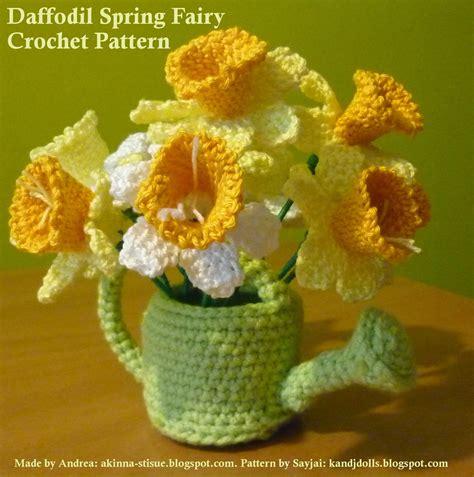 pattern crochet daffodil daffodil spring fairy 2 sayjai amigurumi crochet
