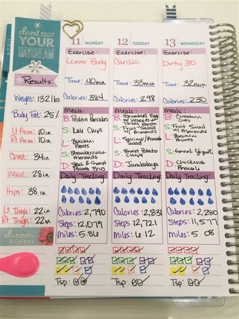 happy healthy life printable planner fitness tracking with erin condren life planner erin