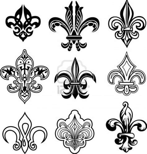 collection of 25 fleur de lis collection of 25 ornate fleur de lis set