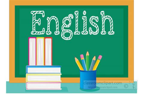 imagenes english book school clipart english class chalkboard with books
