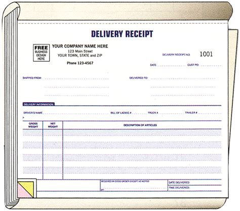 manual receipt template ans business forms delivery receipt book form 6223
