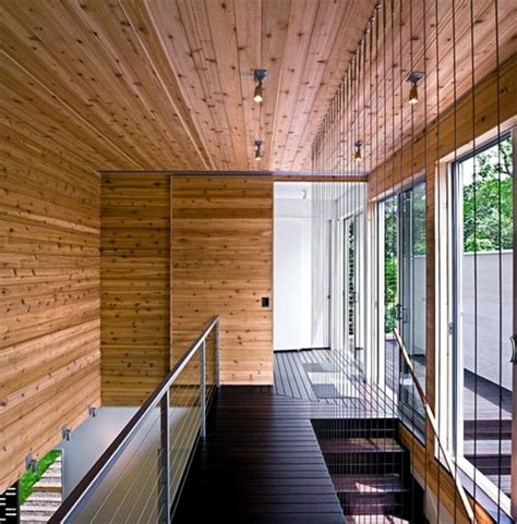 contemporary wall cladding wood creates  warm interior