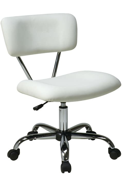 Accent Desk Chair St181 V11 Office Accents Vista Task Chair In White Vinyl Task Chairs Chairhero