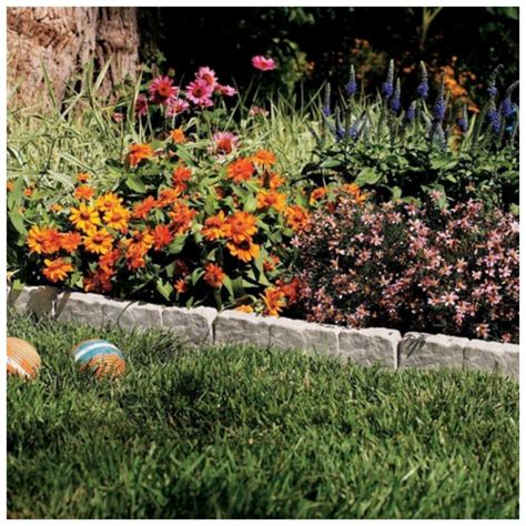 garden flower bed edging suncast resin faux border edging lawn landscape