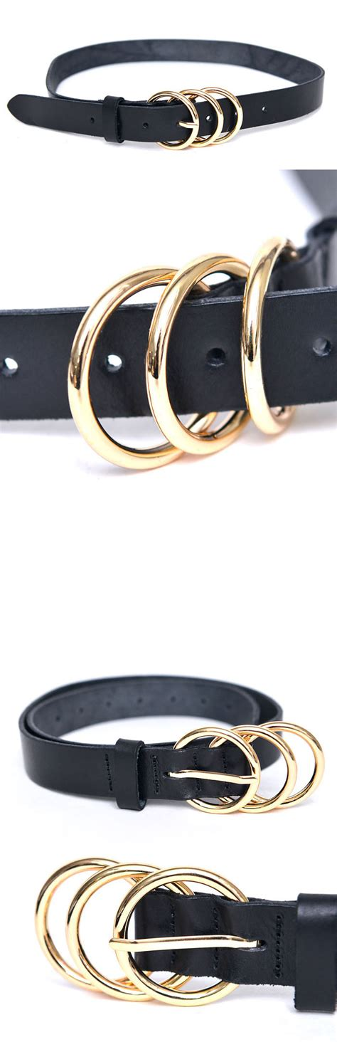 accessories belts unisex o ring leather belt