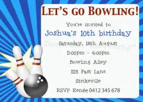 bowling invitation template duck said quot lets quot ten pin bowling