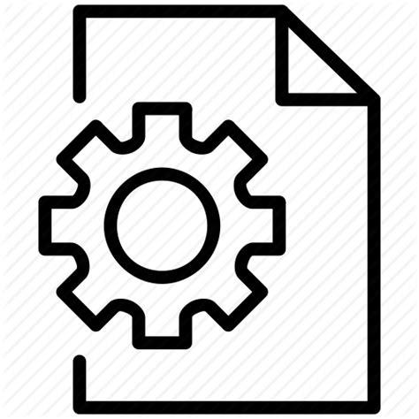 Configure, document, extension, file, file options, gear ...