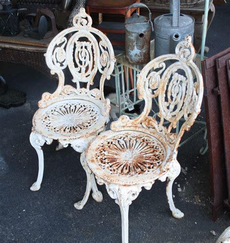 antique cast iron outdoor furniture antique ornate cast iron three set for sale